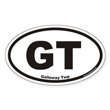 Galloway Twp GT Euro Oval Decal