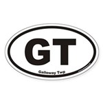 Galloway Twp GT Euro Oval Sticker