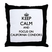 Keep calm and focus on California Condors Throw Pi