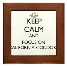 Keep calm and focus on California Condors Framed T