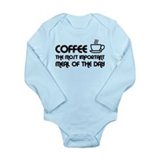 Coffee The Most Important Meal Long Sleeve Infant