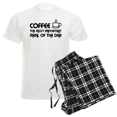 Coffee The Most Important Meal Men's Light Pajamas