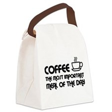Coffee The Most Important Meal Canvas Lunch Bag