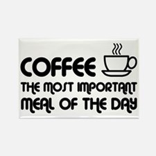 Coffee The Most Important Meal Rectangle Magnet