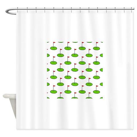 Golf shower curtain