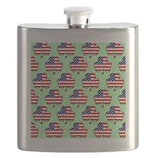 shower am shamrock green Flask