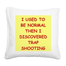 trap shooting Square Canvas Pillow