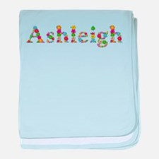 Ashleigh Bright Flowers baby blanket