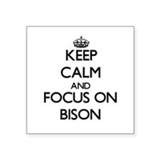 Keep calm and focus on Bison Sticker