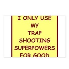 trap shooting Postcards (Package of 8)