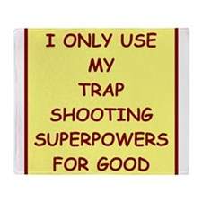trap shooting Throw Blanket