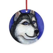 Husky Malamute Ornament (Round)