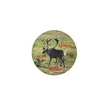 Caribou Alaska Mini Button