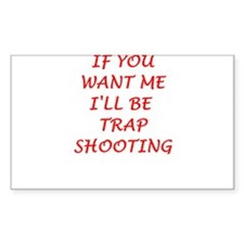 trap shooting Decal