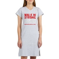 WALK IN STRONG CRAWL OUT STRONG Women's Nightshirt