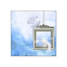 """Peace Dove 2 Square Sticker 3"""" x 3"""""""
