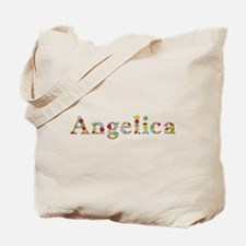 Angelica Bright Flowers Tote Bag