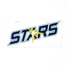 Stars Logo Aluminum License Plate