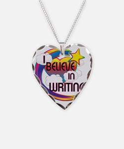 I Believe In Writing Cute Bel Necklace