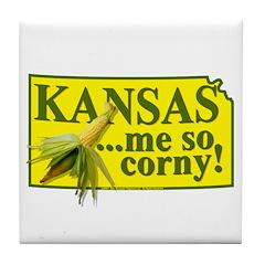 Kansas- Me So Corny! Tile Coaster