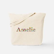 Amelie Bright Flowers Tote Bag