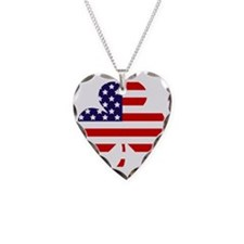 American shamrock 1 light Necklace Heart Charm