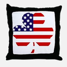 American shamrock 1 light Throw Pillow