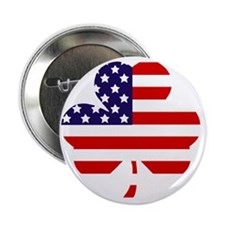 "American shamrock 1 light 2.25"" Button"