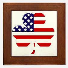 American shamrock 1 light Framed Tile