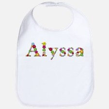 Alyssa Bright Flowers Bib