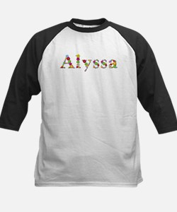 Alyssa Bright Flowers Baseball Jersey