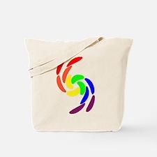 GAY PRIDE CURVY RAINBOW COLOR Tote Bag