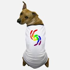 GAY PRIDE CURVY RAINBOW COLOR Dog T-Shirt