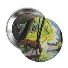 "Horse at the Stream 2.25"" Button (10 pack)"