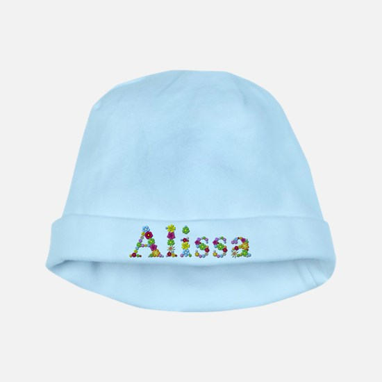 Alissa Bright Flowers baby hat