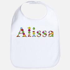 Alissa Bright Flowers Bib