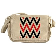 Black, white and Red chevrons  Queen Messenger Bag
