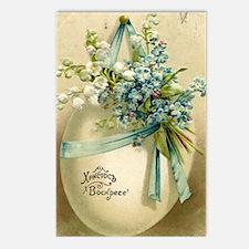 Vintage Easter Russuan Postcard Postcards (Package