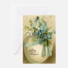 Vintage Easter Russuan Postcard Greeting Cards