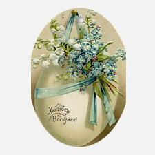 Vintage Easter Russuan Postcard Ornament (Oval)