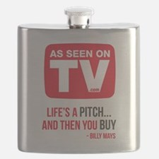 Life's A Pitch And Then You Buy Version 2 Flask