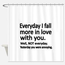 Everyday I fall more in love with you Shower Curta