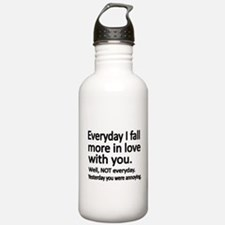 Everyday I fall more in love with you Water Bottle