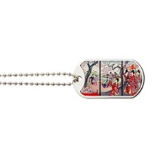 13 IN laptop sleeve Cherry Blossom Time J Dog Tags