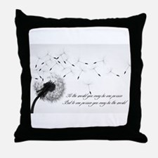 Dandelion Inspiration 2 Throw Pillow