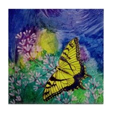 Swallowtail 5.25 Inch Square Tile Coaster