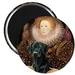 The Queen's Black Lab Magnet