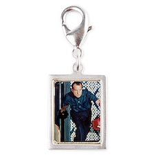 Richard Nixon Bowling Silver Portrait Charm