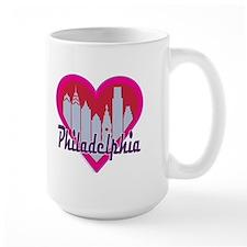 Philly Skyline Hearts Mugs