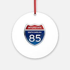 Interstate 85 Round Ornament